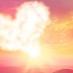A cloud shaped like a heart