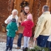 Family meeting grandparents at christmas