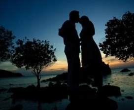 couple silouette at twilight