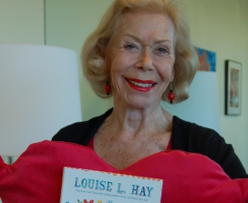 Louise Hay with Heart Thoughts Book