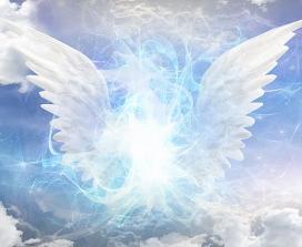An artist's interpretation of an angel