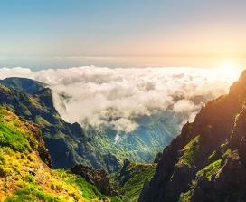 A sunny mountaintop