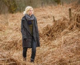 woman in field in autumn
