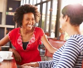 Women in coffee shop