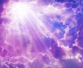 A purple skyscape