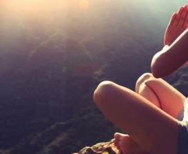 Woman outdoors yoga pose