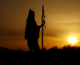 Silhouette of a shaman