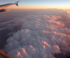 view from a plane of clouds