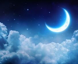 A crescent moon