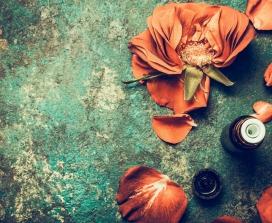 Rose petals and essential oils