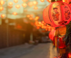 Chinese red lanterns in Chinatown