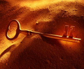 A key in a sand dune