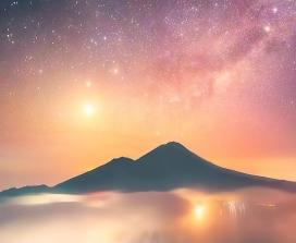 Venus above a mountain