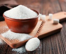 Sugar in a bowl